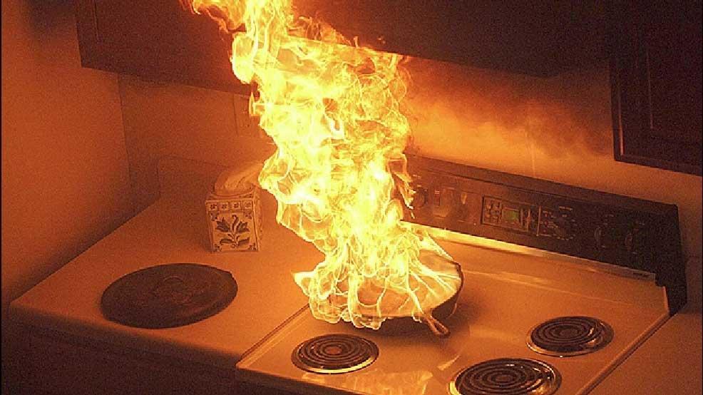 Alat Pemadam Api untuk Dapur Situasi Dapur Terbakar