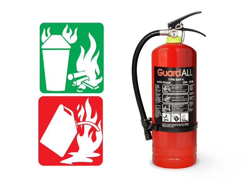 APAR Foam AFFF dan Kelas Kebakaran yang Bisa Dipadamkan