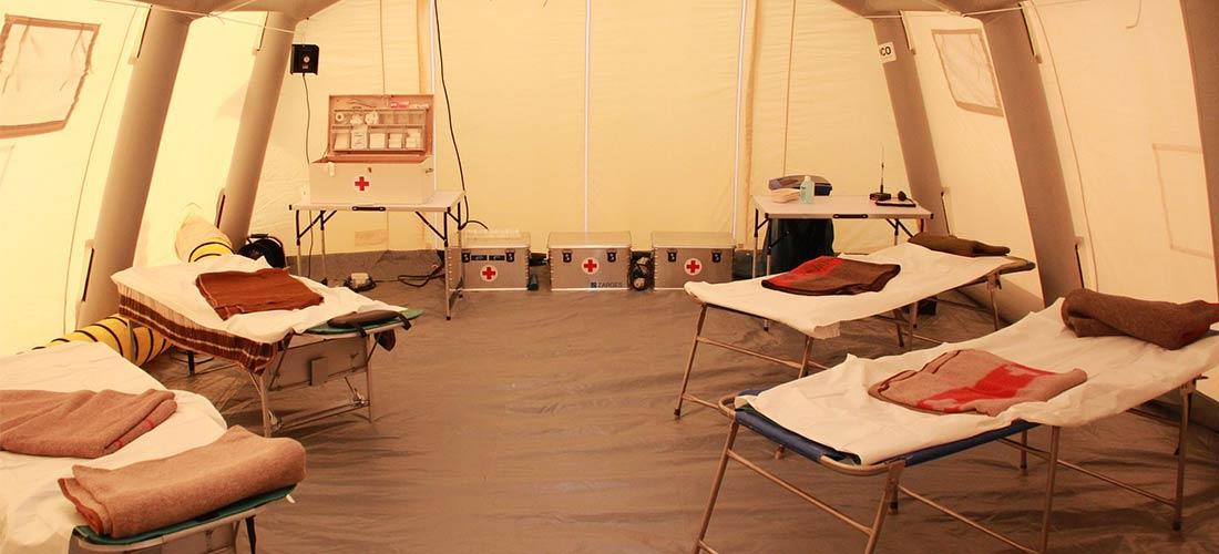 Tenda Isolasi Pasien Corona dengan Sistem Fire Protection Sesuai Anjuran NFPA