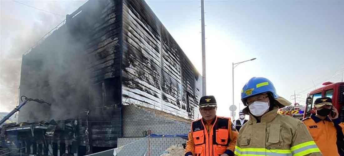 Standar Proteksi Kebakaran Konstruksi - Kebakaran Gudang di korea Menewaskan 38 Orang