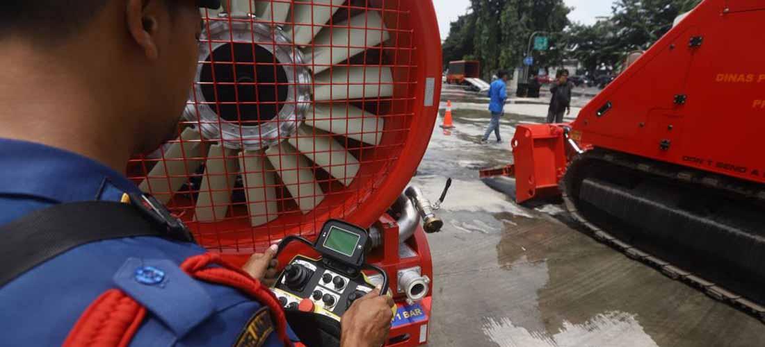robot pemadam kebakaran di indonesia