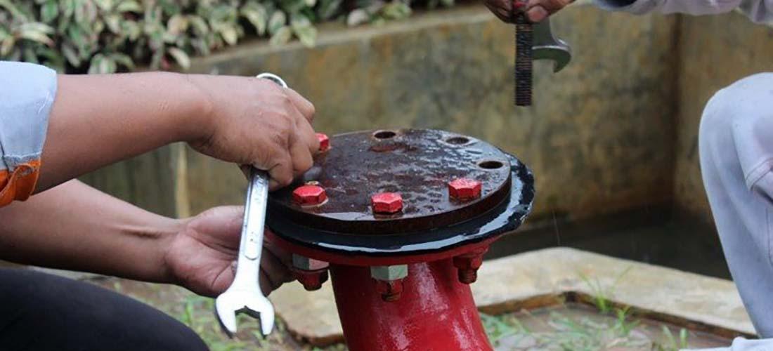 cara memasang hydrant pillar