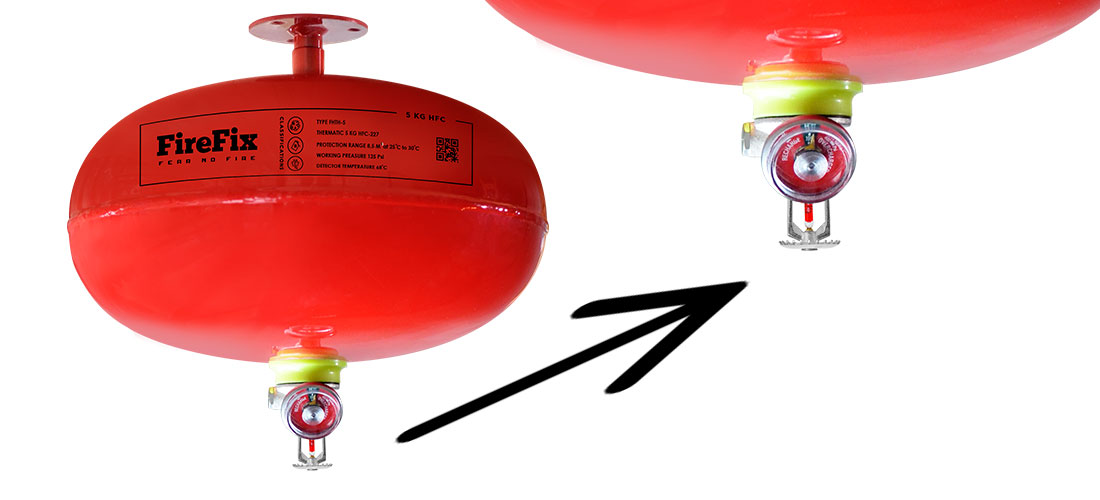 Jangkauan APAR Thermatic dan Cara Kerja Alat Pemadam Api Otomatis