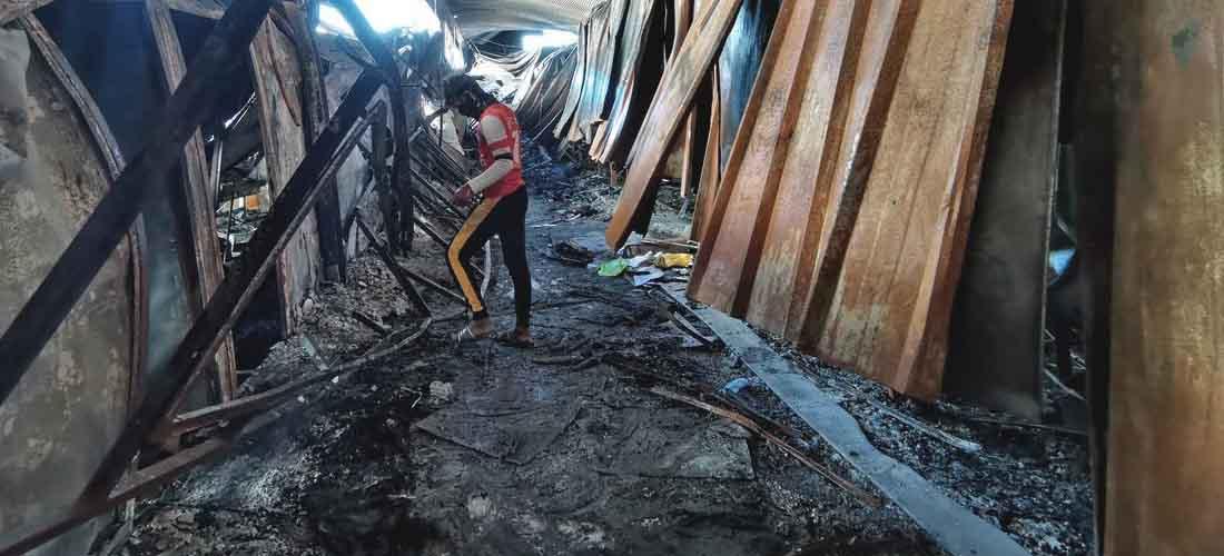rumah sakit covid terbakar di irak