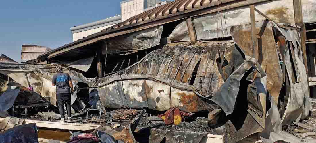 rumah sakit covid di irak kebakaran