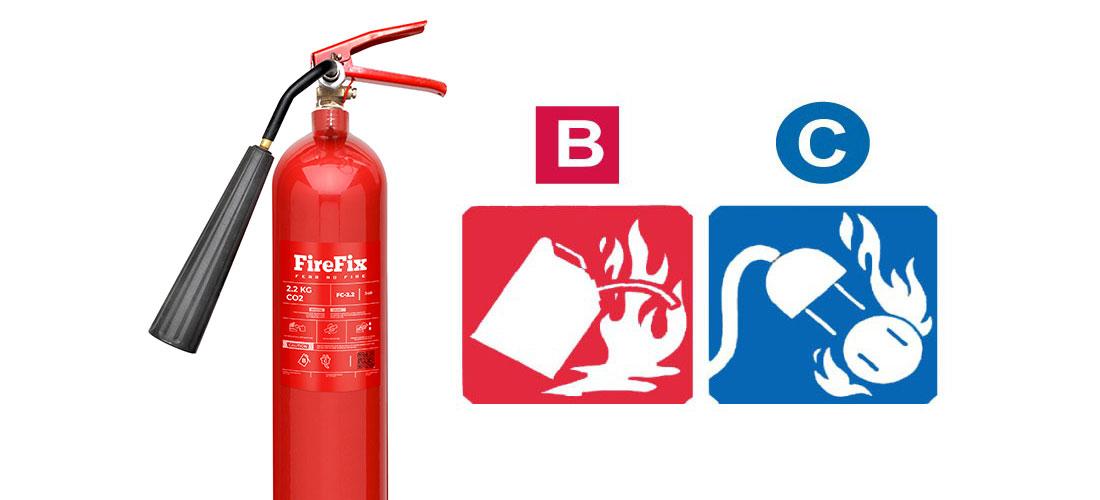 APAR CO2 untuk Kelas Kebakaran B dan C